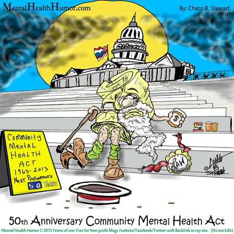 Menatl Health humor Cartoon Drawn By Chato Stewart