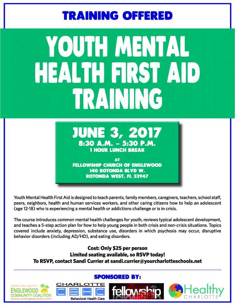 Youth Mental Health First Aid Training Offered in Englewood